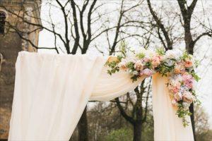 Dekorasi Pintu Masuk Wedding Venue